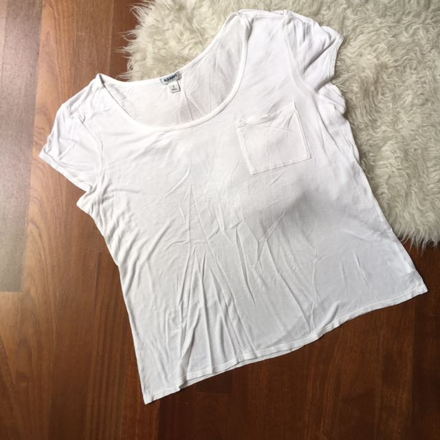 Old Navy White Loose Fitting Tee