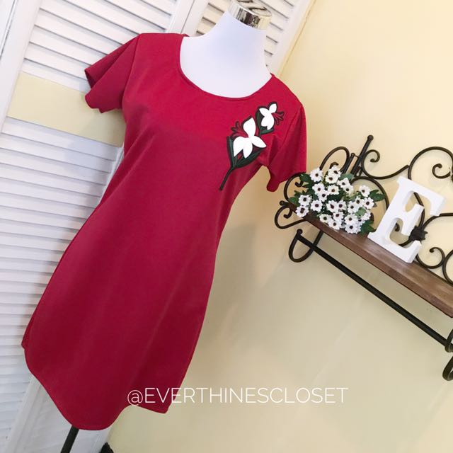Patched Neoprene Dress
