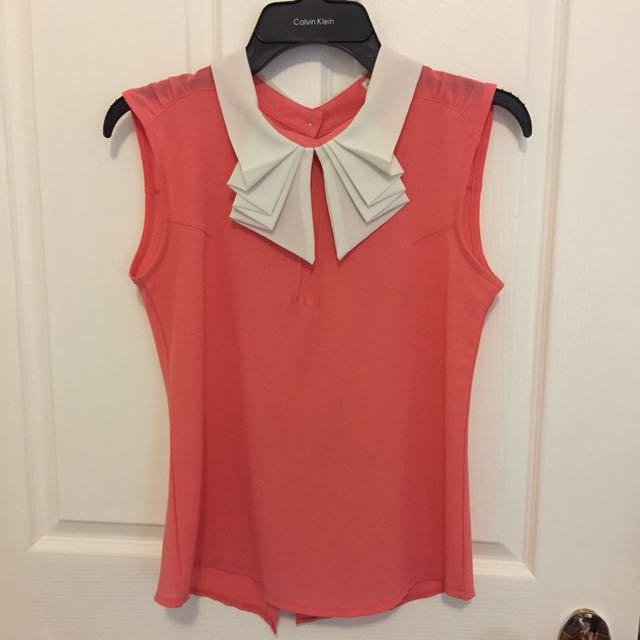 Pink Top With White Accent Details