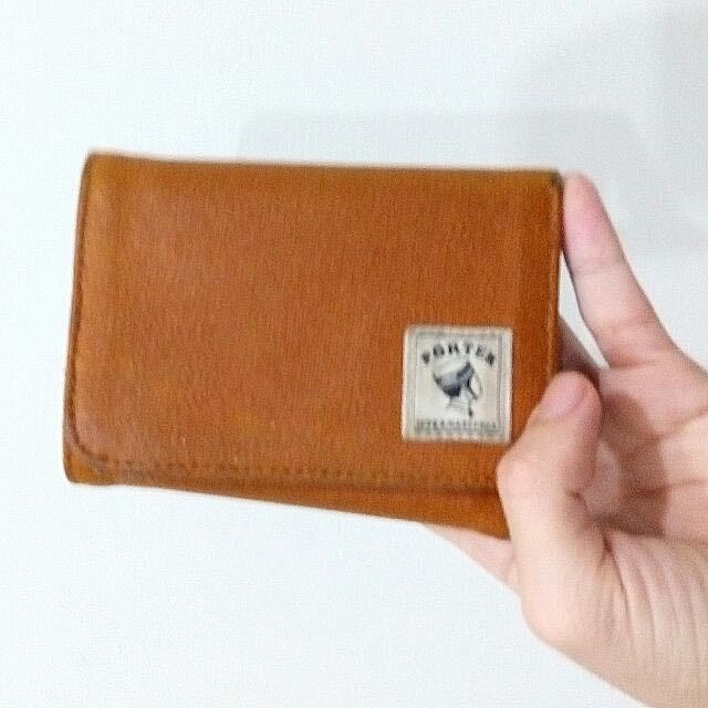 Porter駝色皮夾(折價)
