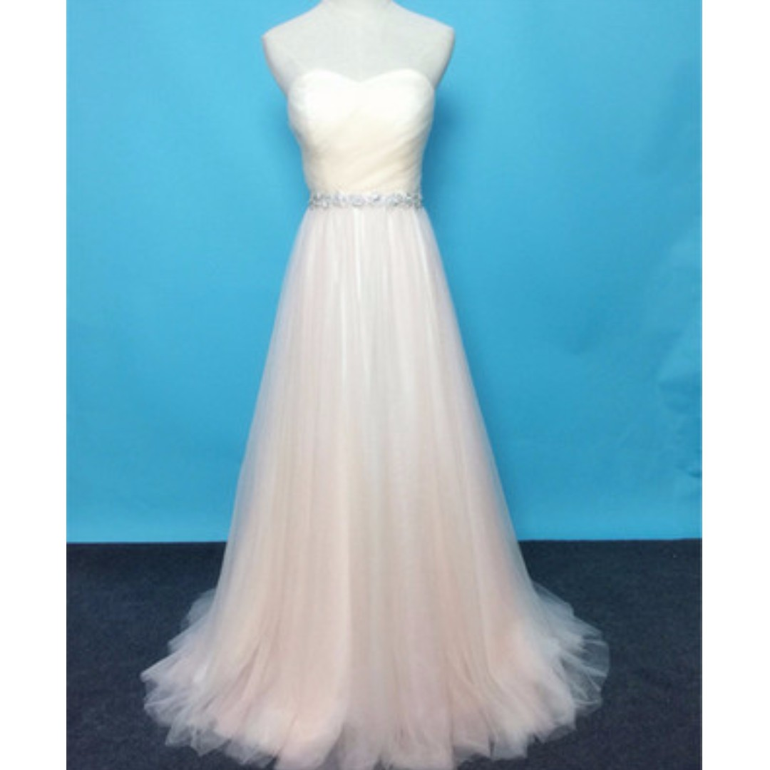Pre order red blue cream tube wedding bridal prom bridesmaid dress ...