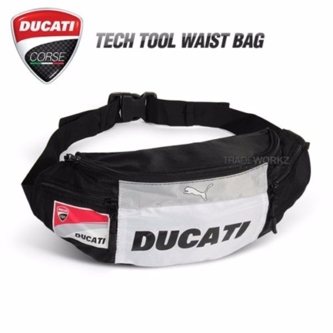 1fc379f5b178 PUMA DUCATI POUCH BAG (BLACK WHITE)