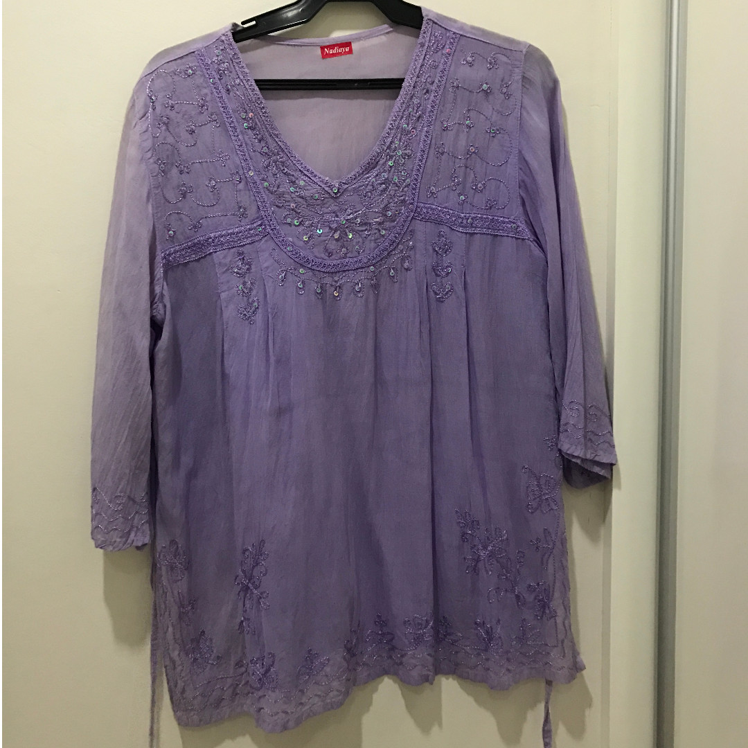 Purple Tunic with Bead Detail