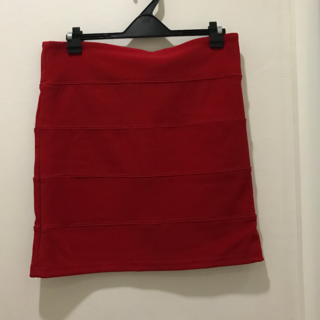 Red Bandage Skirt (size Medium)