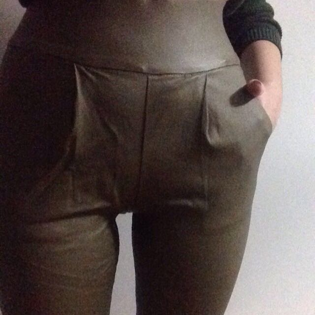 Reduced price: Leather-look Pants