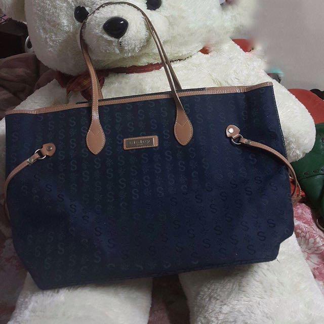 SISLEY tote bag Blue