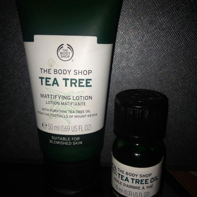 TEA TREE LOTION & OIL THE BODY SHOP