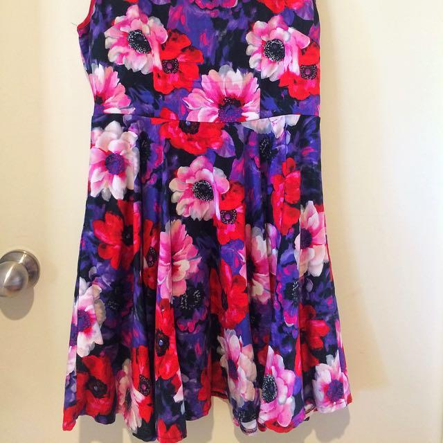 Temp Floral Dress Size 10