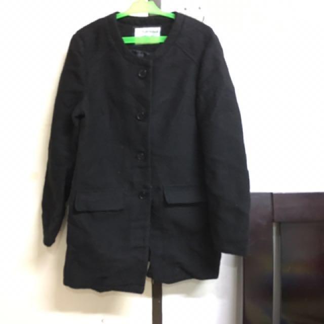 Terranova Black Winter Long Coat