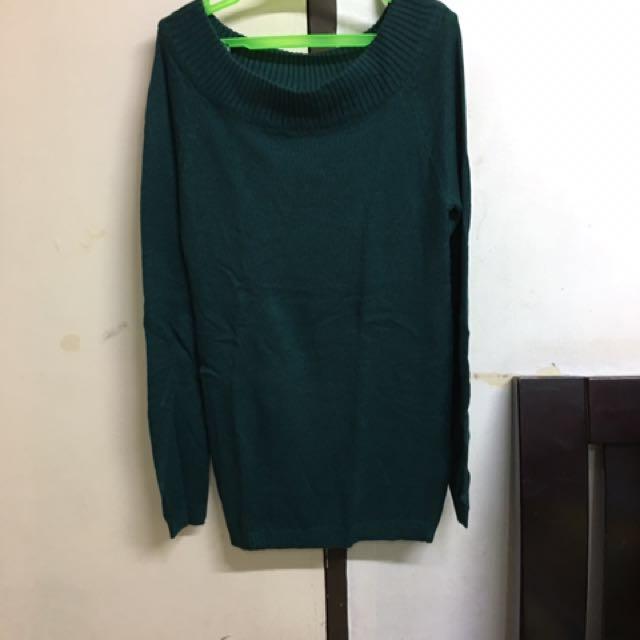 Terranova Blue Green Knitted Long Sleeves