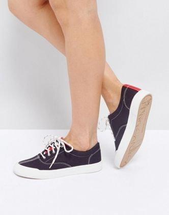 【歐洲站】Tommy Jeans Classic Canvas Sneaker 湯米.西爾費格 百搭 深藍 休閒鞋