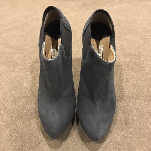 Tony Bianco Navy Booties size 5