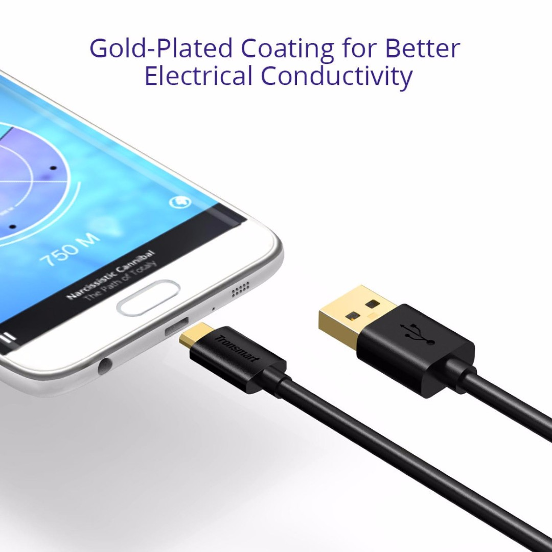 Tronsmart Kabel Fast Charging Micro USB to USB 2.0 - MUPP6 (5PCS), Mobile Phones & Tablets, Mobile & Tablet Accessories on Carousell