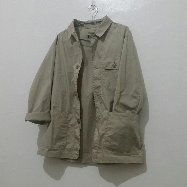 Uniqlo Khaki Office Jacket