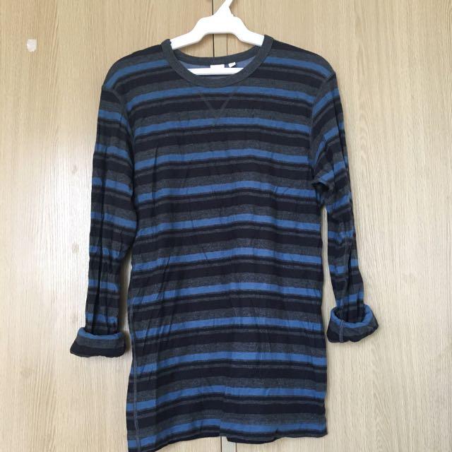 Uniqlo Sweater (blue/gray)