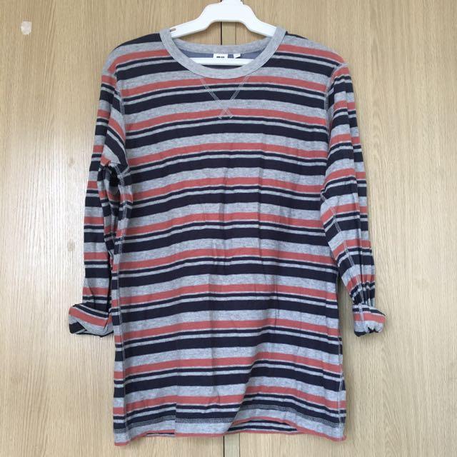 Uniqlo Sweater (red/gray/blue)