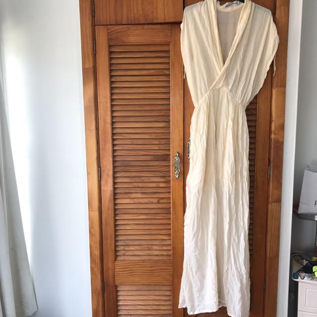White Cross Over Dress
