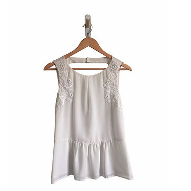 White lace detail Top (12)