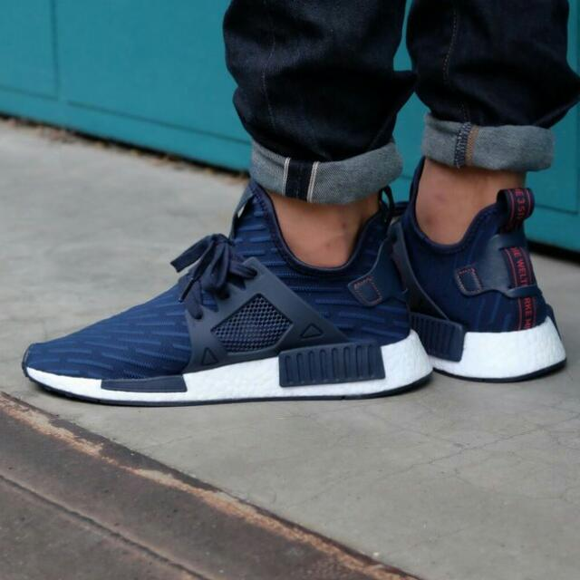huge discount 5e6f8 e334f WITH BOX] Nmd XR1 Navy blue PK, Men's Fashion, Footwear on ...