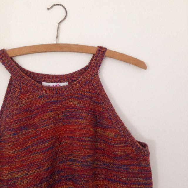 woven crop top