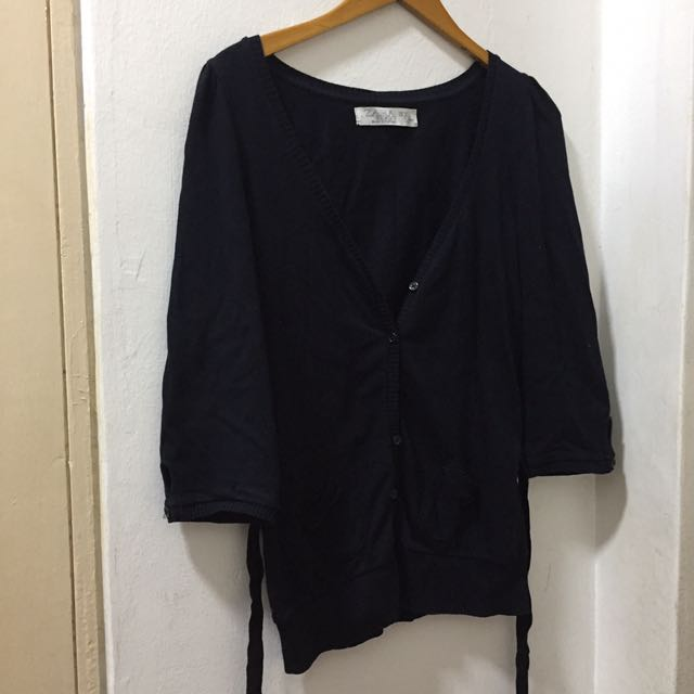 Zara Black Cardigan Size XL