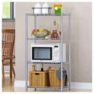 Howards four-tier chrome shelves