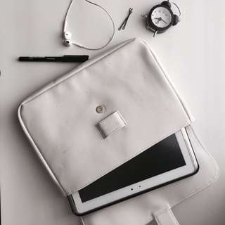 White Tablet Purse