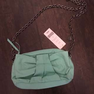 French Connection Mint Green Crossbody Bag