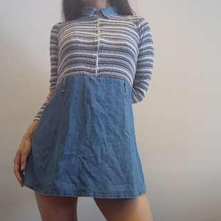 XS Vintage Chambray Dress