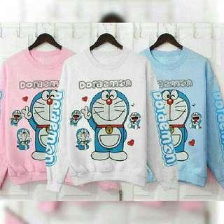 Sweater Doraemon Peace 3 Warna