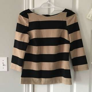 Dynamite Striped Blouse