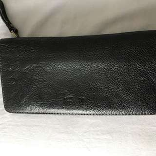 Black Real Leather Fossil Wallet