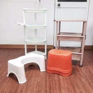 收納籃+小椅子