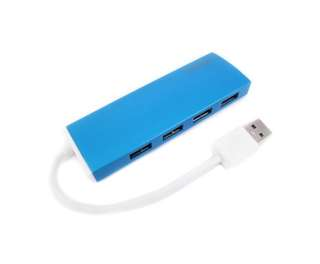 Simplecom CH309 Ultra Slim Aluminium USB 3.0 External 4 Port Hub for PC Mac Laptop Blue
