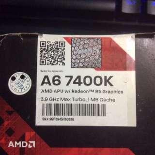 AMD A6 7400k 3.5-3.9Ghz Max Processor W/cooling Fan