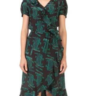 Gorman See Ya Alligator 100% Silk Dress Size 6
