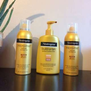 Three neutrogena sunless tanning lotion