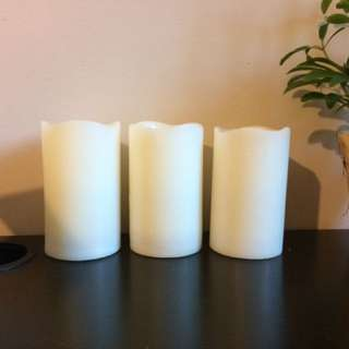 Three flameless candles