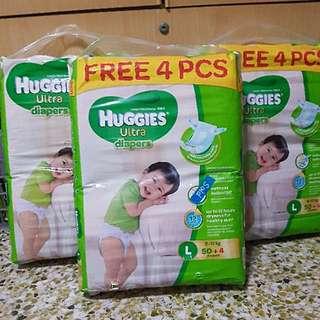 Huggies Ultra Diapers (L Size)