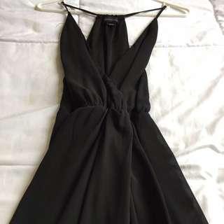 Long Black Slit Dress