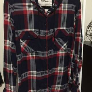 Garage Hooded Plaid