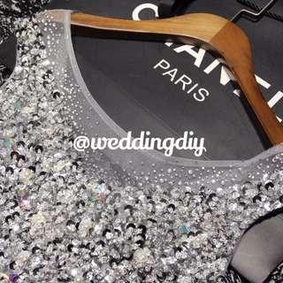 Wedding Night Gown Simple Dress Tea Ceremony Dress Aline Bling Tea Ceremony #budgetwedding #budgetbrides