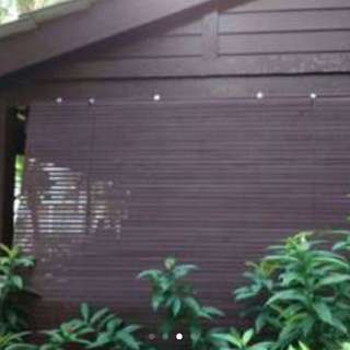 Outdoor Wooden Blind (left 1 Piece)