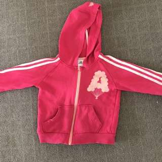 Adidas Pink Girls Jumper