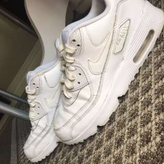 White Nike Air Max shoes