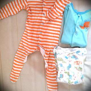 REPRICED!! MOTHERCARE Sleepsuits (3-6m)