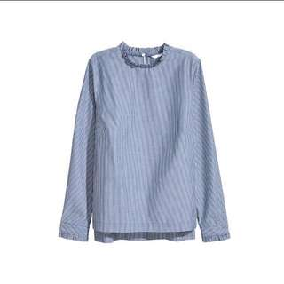 (BNWT) Striped long sleeved blouse