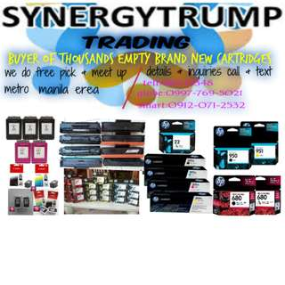 buyer of brand new and empty ink toner cartridges