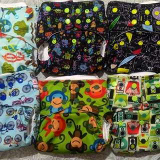 6 Pieces Alva 4.0 Cloth Diapers