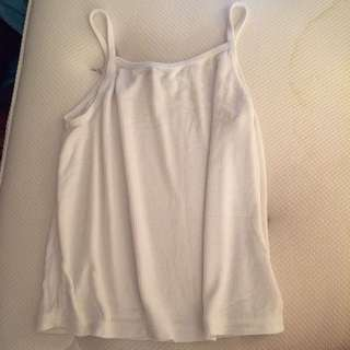 Brandy Melville white ribbed halter top